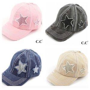 MOVING SALE 🚚4 COLORS CAP, GLITTER STARS